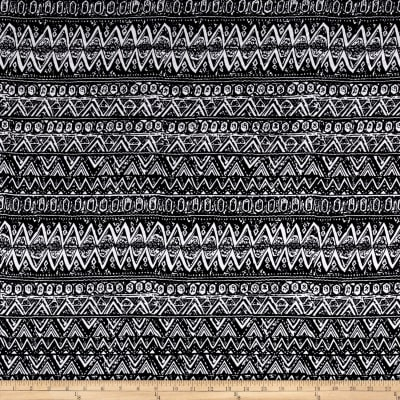 Ponte De Roma Knit Geometric Abstract Black/White