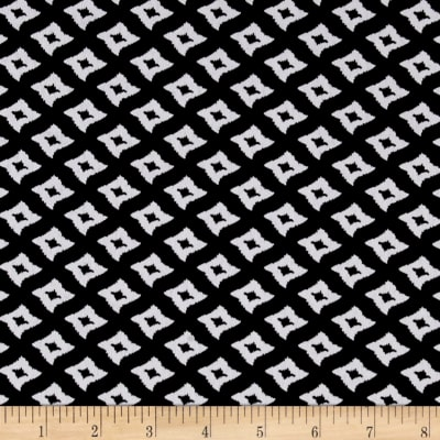 ITY Stretch Knit Abstract Black/White