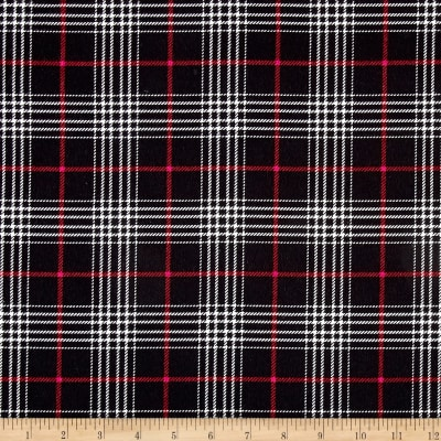 Timeless Treasures Oxford Flannel Glen Plaid Black
