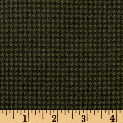 Timeless Treasures Oxford Flannel Mini Houndstooth Green