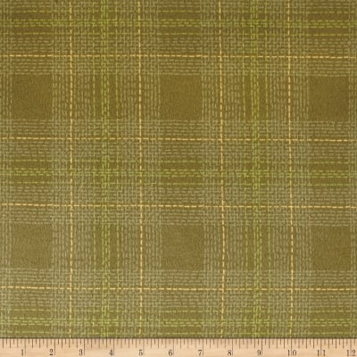 Dear Stella Flannel Winter Cabin Dash Plaid Moss