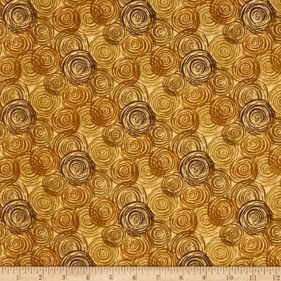 "108"" Flannel Textured Circles Tan"
