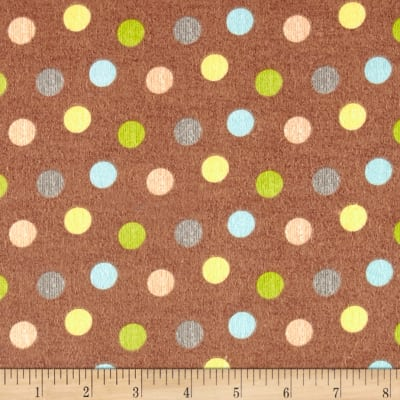 Zoovenirs Flannel Dots Brown