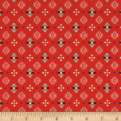Pow Wow Small Aztec Print Red