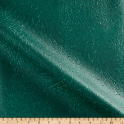 Faux Leather Ostrich Green
