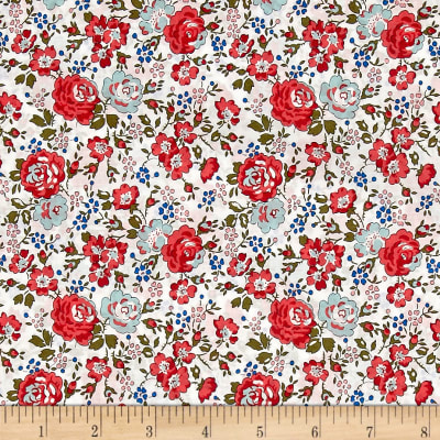 Liberty Fabrics Classic Tana Lawn Felicite White/Red