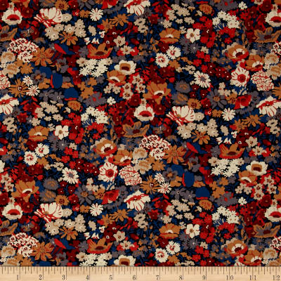 Liberty Fabrics Classic Tana Lawn Thorpe Blue/Brown