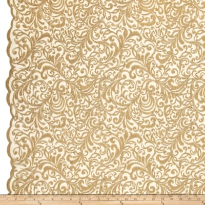 Telio Angelina Embroidery Mesh Lace Gold