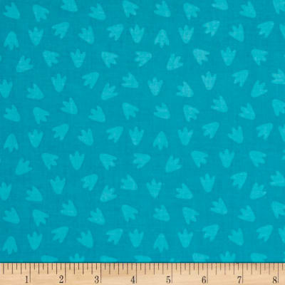 Dino Daze Footprints Teal