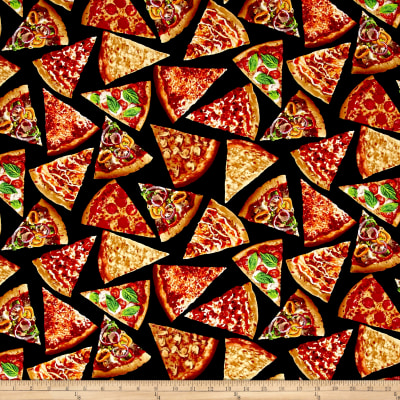 Timeless Treasures Foodie Pizza Slices Pizza