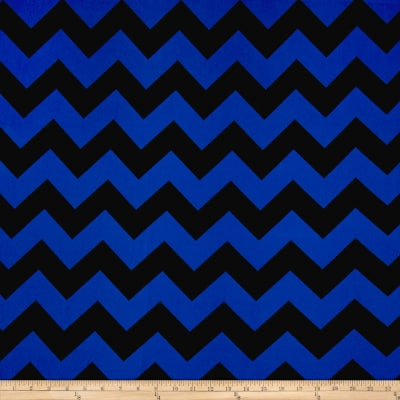 Dobby Crepe Chevron Black/Blue