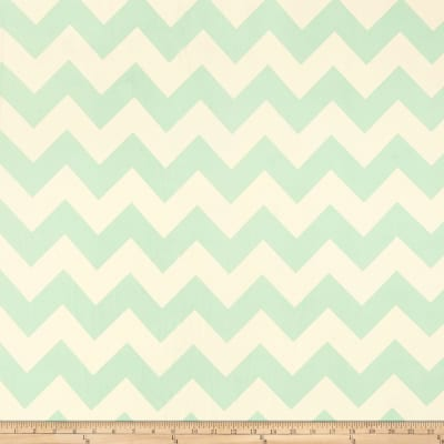 Dobby Crepe Chevron Mint/Natural