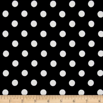 Liverpool Double Knit Dots Black/Ivory