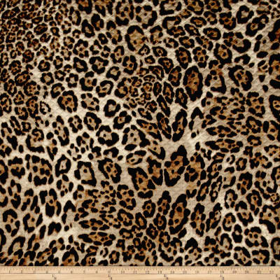 Quilted Knit Cheetah Black/Tan/Light Brown