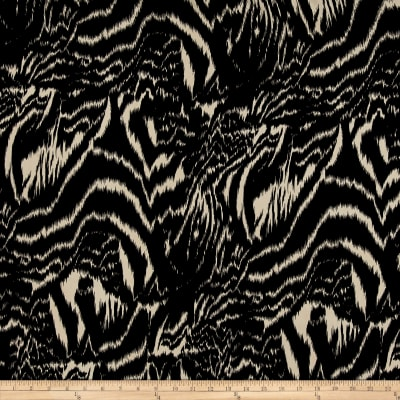 Peachskin Prints Abstract Black/Taupe