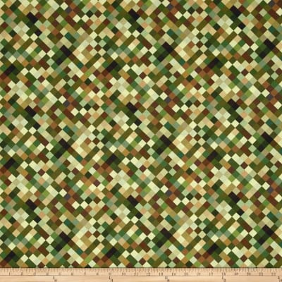 "Hopscotch Digital 108"" Quilt Backing Camouflage"