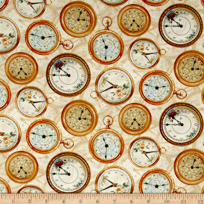 Bookshop Clocks Ivory