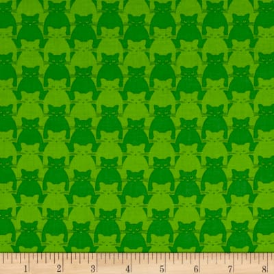 Yolanda Fundora Kitty Kitty Tonal Cat Green