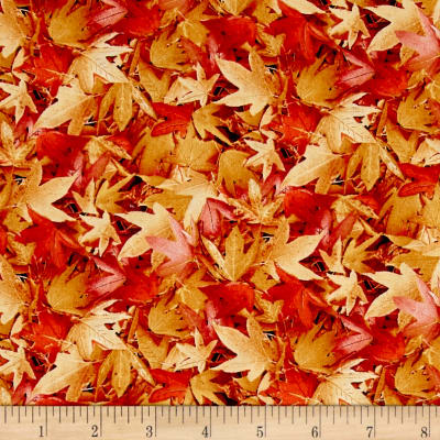 Natural Treasures 2 Autumn Leaves Tan
