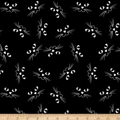 Ready Set Glow In The Dark Cat's Faces Black