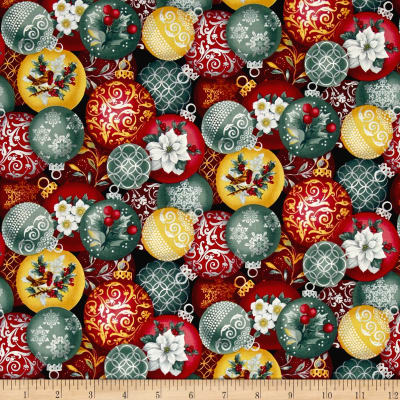 Holiday Trimmings Ornaments Red