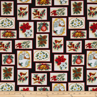 Holiday Trimmings Christmas Patch Black