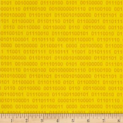 Geek Chic Binary Numbers Yellow