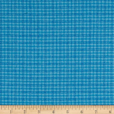Local Color Yarn Dyed Flannels Window Pane Light Blue