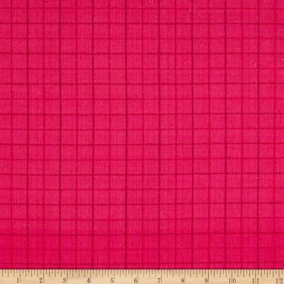 Local Color Yarn Dyed Flannels Tattersall Hot Pink