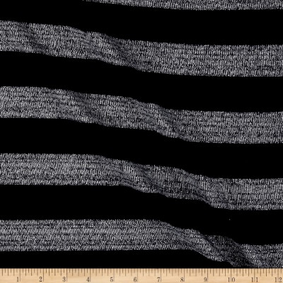 Sweater knit With Silver lurex Stripes Navy
