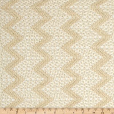 Crochet Lace Sequin Chevron Tan
