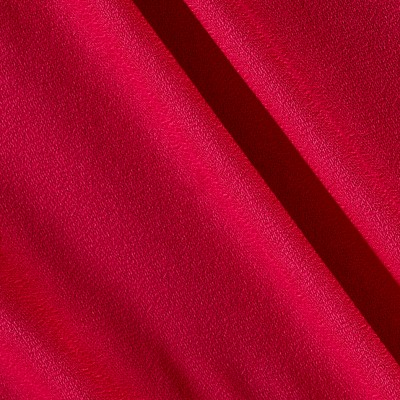 Rayon Crepe Solid Hot Pink