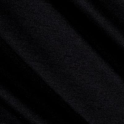 Rayon Jersey Knit Solid Black