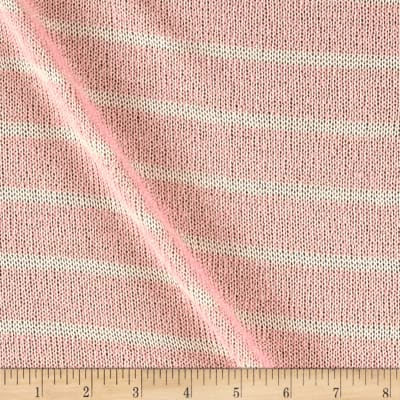 Stretch Sweater Knit Stripe Cream/Peach