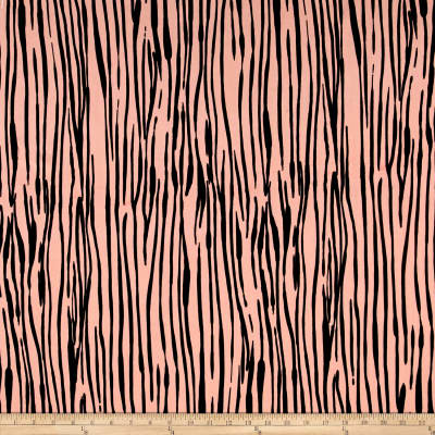 Rayon Crepe Zebra Dusty Rose/Black