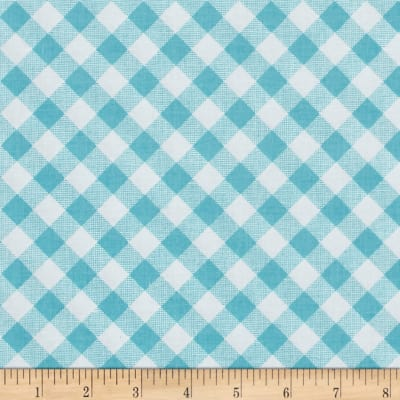 Riley Blake Sew Cherry 2 Gingham Aqua
