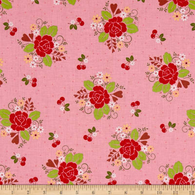 Riley Blake Sew Cherry 2 Main Pink