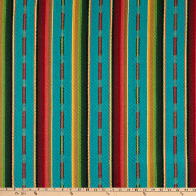 Laura & Kiran Southwest Stripes Sundance Turquoise MultiBasketweave