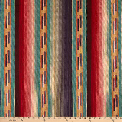 Laura & Kiran Southwest Stripes Navajo Teal Multi