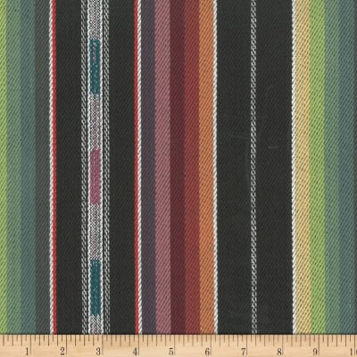 Laura & Kiran Southwest Stripes Zuni Stripe Black Multi
