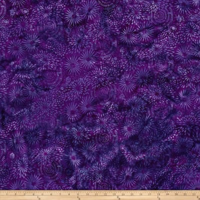 Island Batik Large Mixed Flora Blackberry
