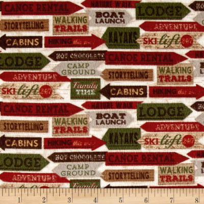 Woodland Retreat Flannel Signs Multi