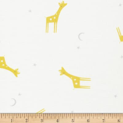 Cloud 9 Organic Tout Petit Gauze Little Giraffes White