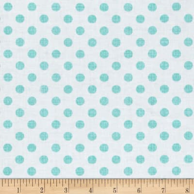 Contempo Owls And Pals Dot Weave Turquoise