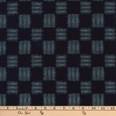 Kaufman Kasuri Check Plaid Navy