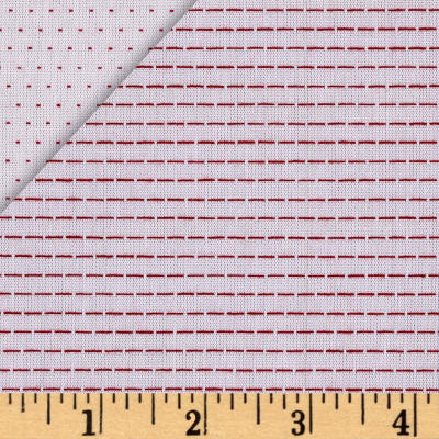 Kaufman Chambray Stitched Yarn Dyed Straight Red