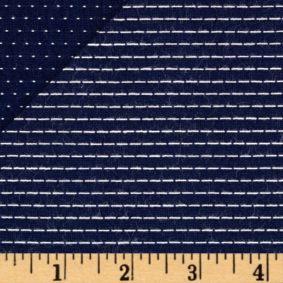 Kaufman Chambray Stitched Yarn Dyed Straight Navy