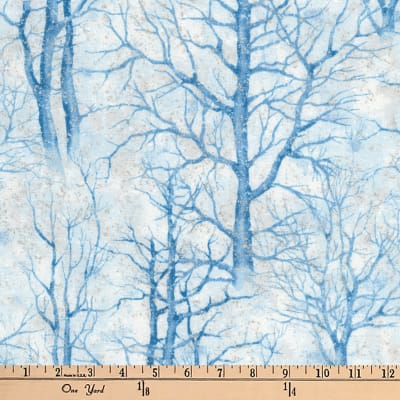 Kaufman Sound Of The Woods Metallic Trees Winter