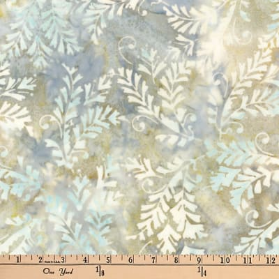Kaufman Artisan Batiks Bella Vita Leaf Spray Willow
