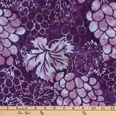 Kaufman Artisan Batiks Bella Vita Clusters Grape